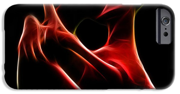 Recently Sold -  - Abstract Digital Art iPhone Cases - the Kiss iPhone Case by Taylan Soyturk