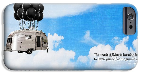 Trailers iPhone Cases - The Knack of Flying iPhone Case by Edward Fielding