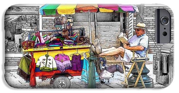 Love Asheville iPhone Cases - The Knit Cart iPhone Case by John Haldane
