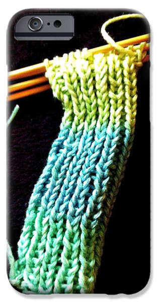 Photographs Tapestries - Textiles iPhone Cases - The Knitting iPhone Case by Martha Nelson
