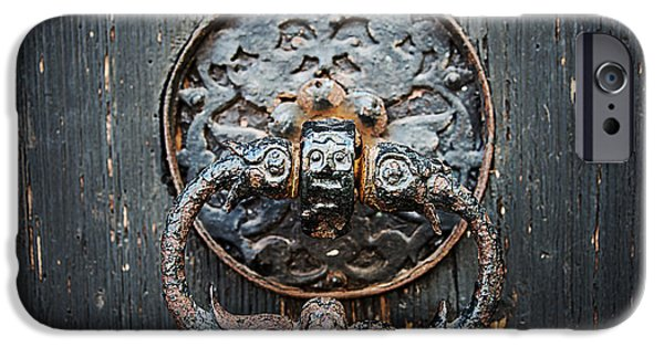 Door iPhone Cases - The Knocker iPhone Case by Ryan Wyckoff