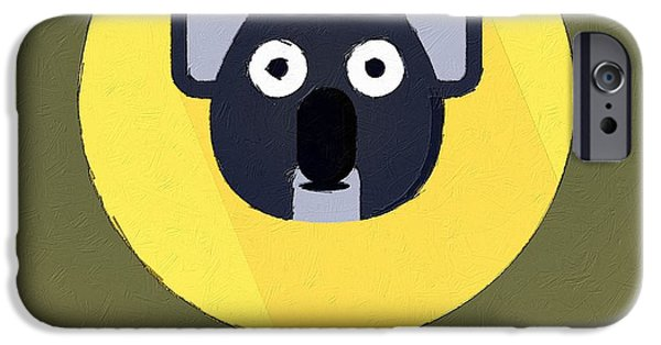 Koala Digital Art iPhone Cases - The Koala Cute Portrait iPhone Case by Florian Rodarte