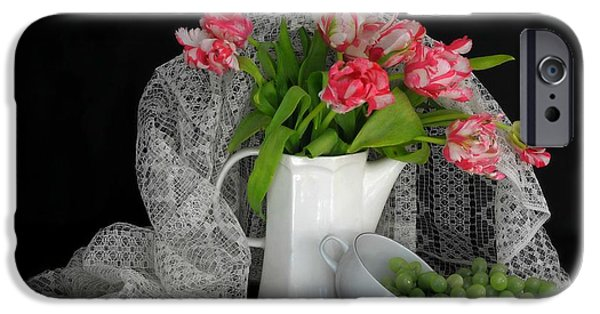 Still Life With Pitcher iPhone Cases - The Lace Veil  iPhone Case by Diana Angstadt