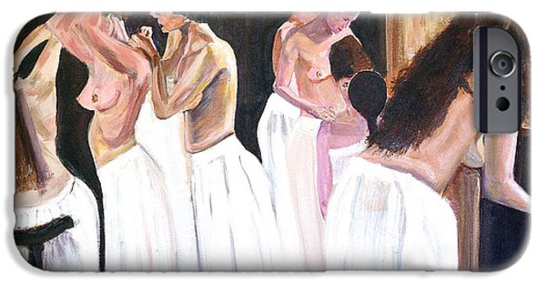 Prostitutes Paintings iPhone Cases - The Ladies of the House iPhone Case by Rex Maurice Oppenheimer