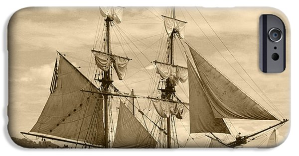 Tall Ship iPhone Cases - The Lady Washington Ship iPhone Case by Kym Backland
