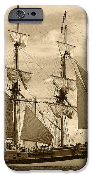 The Lady Washington Ship iPhone Case by Kym Backland