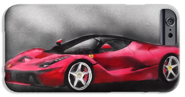 Airbrush Drawings iPhone Cases - The LaFERRARI iPhone Case by Bianca Struna