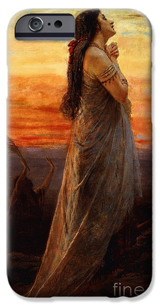 Mourning iPhone Cases - The Lament of Jephthahs Daughter iPhone Case by George Elgar Hicks