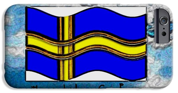 Creek Mixed Media iPhone Cases - The land of Ikea iPhone Case by Pepita Selles