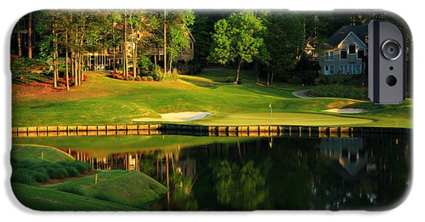 The Best Sunset iPhone Cases - Golf at The Landing #3 in Reynolds Plantation On Lake Oconee GA iPhone Case by Reid Callaway