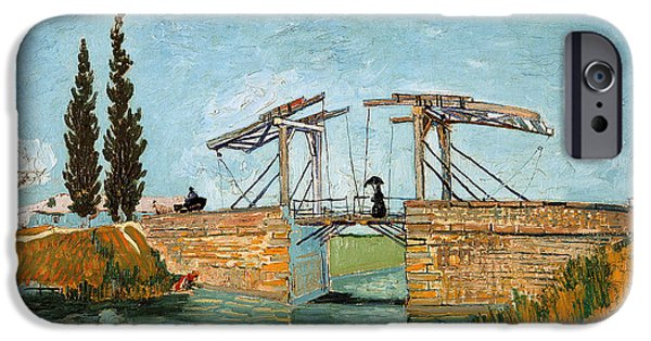 Langlois iPhone Cases - The Langlois Bridge at Arles iPhone Case by Celestial Images