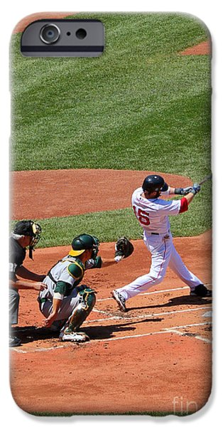 The Laser Show Dustin Pedroia iPhone Case by Tom Prendergast