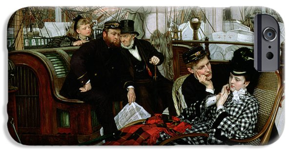 Rocking Chairs Photographs iPhone Cases - The Last Evening, 1873 Oil On Canvas iPhone Case by James Jacques Joseph Tissot