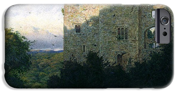 Ruin Paintings iPhone Cases - The Last Gleam iPhone Case by Walter Fryer Stocks