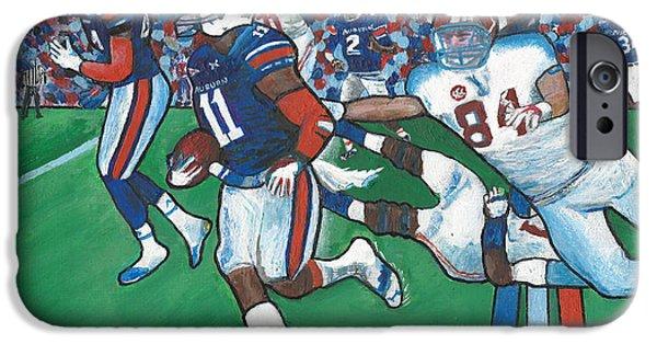 Bear Bryant iPhone Cases - The Last Grasp Alabama Auburn Iron Bowl 2013 ADD Nostalgia  iPhone Case by Ricardo Of Charleston