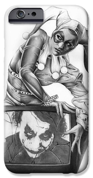 Pin-up iPhone Cases - The Last Laugh iPhone Case by Pete Tapang