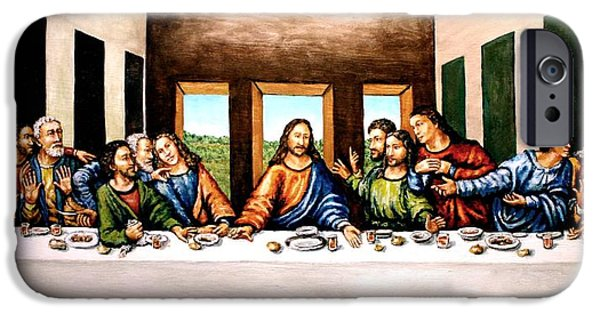 The Followers Paintings iPhone Cases - The Last Supper iPhone Case by Todd Spaur