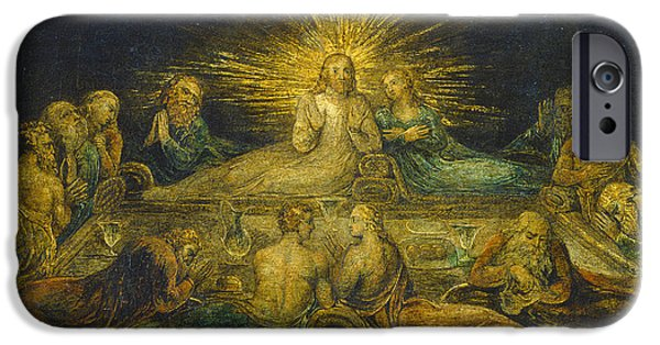 Blake iPhone Cases - The Last Supper iPhone Case by William Blake