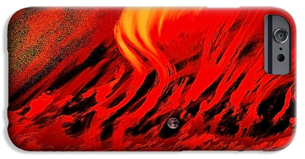 Concept Digital Art iPhone Cases - Last Time and Place iPhone Case by Kellice Swaggerty