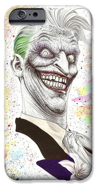 Wave Art iPhone Cases - The Laughing Man iPhone Case by Wave