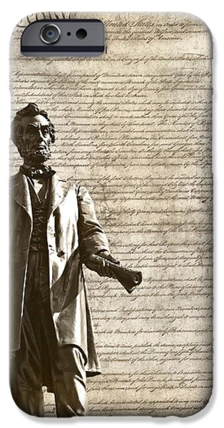 Constitution iPhone Cases - The Law iPhone Case by Dan Sproul