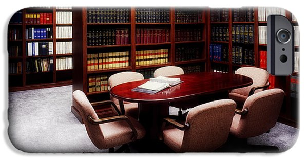 Recently Sold -  - Furniture iPhone Cases - The Law Office iPhone Case by Mountain Dreams