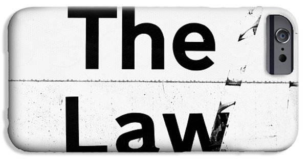 Ruler iPhone Cases - The Law iPhone Case by Tom Gowanlock