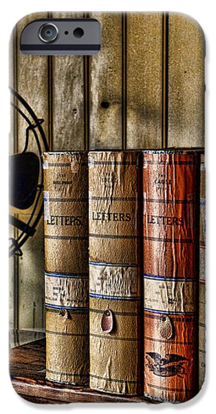 The Lawyers Desk iPhone Case by Paul Ward