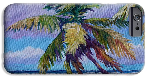 Bvi iPhone Cases - The Leaning Palm iPhone Case by John Clark