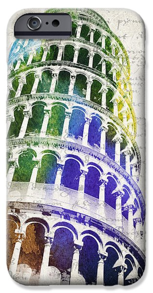 Antiques Mixed Media iPhone Cases - The Leaning Tower of Pisa iPhone Case by Aged Pixel