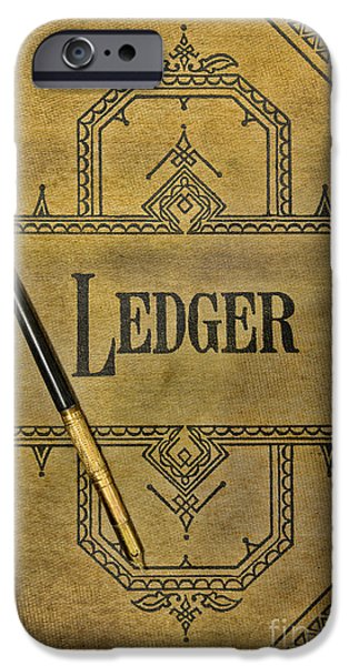 Ledger; Book iPhone Cases - The Ledger iPhone Case by Paul Ward