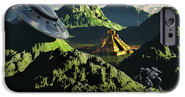 Built Structure Digital Art iPhone Cases - The Legendary South American Golden iPhone Case by Mark Stevenson