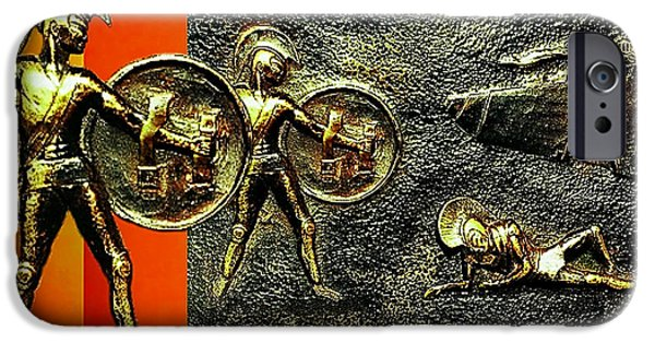 Ancient Reliefs iPhone Cases - The Legends of Troy iPhone Case by Hartmut Jager