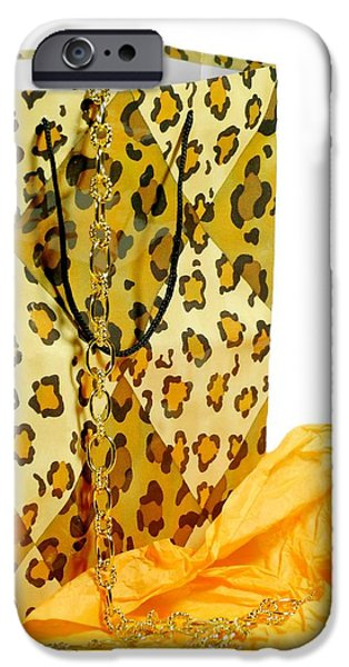 The Leopard Gift Bag iPhone Case by Diana Angstadt