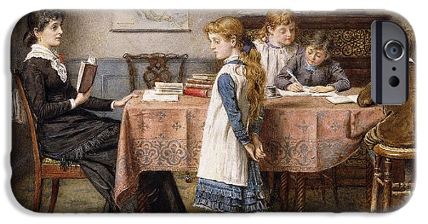 Indoor iPhone Cases - The Lesson iPhone Case by  George Goodwin Kilburne