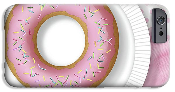 Doughnuts iPhone Cases - The Letter O iPhone Case by Valerie   Drake Lesiak