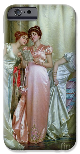 Shawl iPhone Cases - The Letter iPhone Case by Vittorio Reggianini
