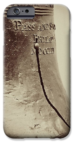 Liberty Photographs iPhone Cases - The Liberty Bell iPhone Case by Lisa Russo