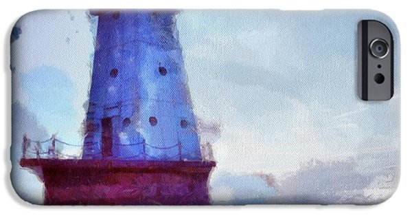 Lighthouses iPhone Cases - The Light House iPhone Case by Jeff Klingler