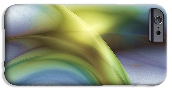 Abstract Digital Light Trails iPhone Cases - The Light Of Day iPhone Case by Elizabeth McTaggart