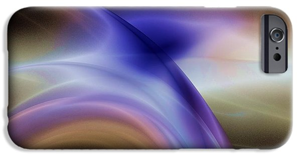 Abstract Digital Light Trails iPhone Cases - The Light Of Night iPhone Case by Elizabeth McTaggart