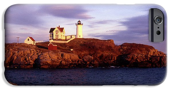York Beach iPhone Cases - The Light on the Nubble iPhone Case by Skip Willits