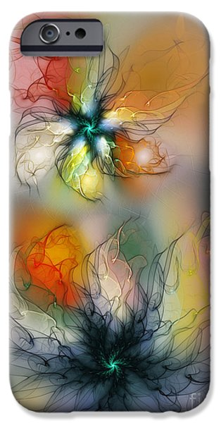 Abstract Expressionism Digital iPhone Cases - The Lightness of Being-Abstract Art iPhone Case by Karin Kuhlmann