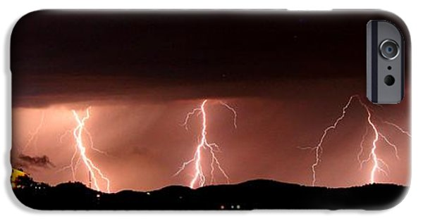 Michael iPhone Cases - The Lightning Show at Medina Lake iPhone Case by Michael Tidwell