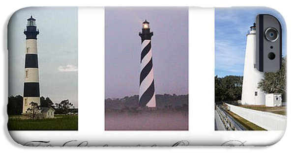 Cape Lookout iPhone Cases - The Lights of the Outer Banks iPhone Case by Tony Cooper