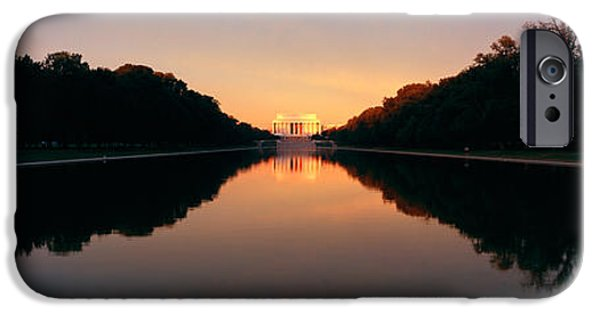 President iPhone Cases - The Lincoln Memorial At Sunset iPhone Case by Panoramic Images
