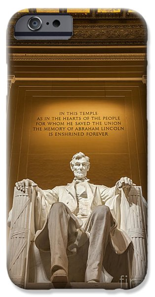 Abraham Lincoln Canvas iPhone Cases - The Lincoln Memorial iPhone Case by Henk Meijer Photography