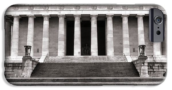 D.c. iPhone Cases - The Lincoln Memorial iPhone Case by Olivier Le Queinec
