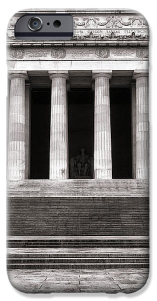 The Lincoln Memorial iPhone Case by Olivier Le Queinec