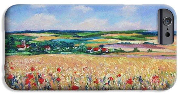Pastel iPhone Cases - The Lincolnshire Wolds iPhone Case by John Clark